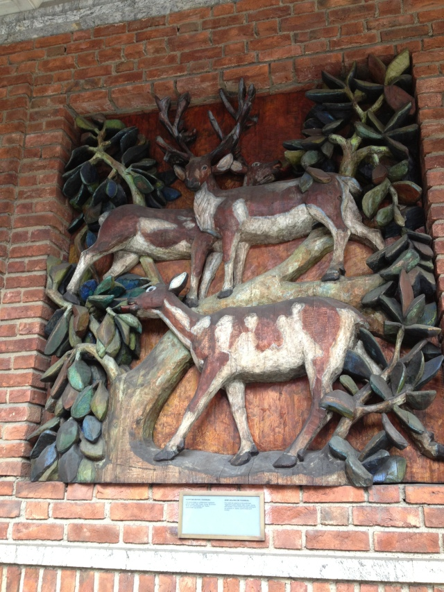 Three deer at Oslo City Hall