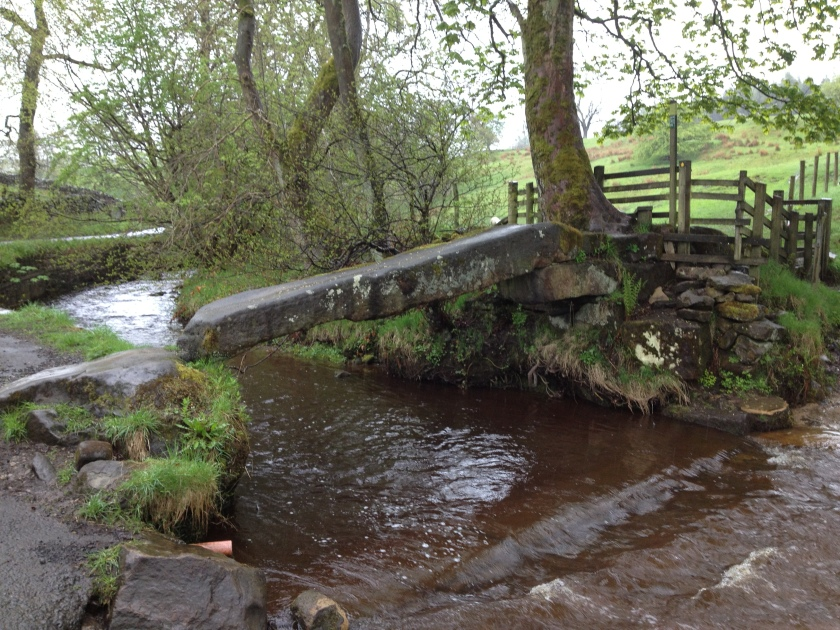 Fab single stone clapper bridge at Wycoller