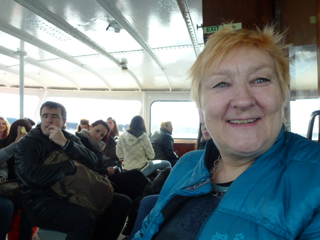 On the ferry to Bygdoy