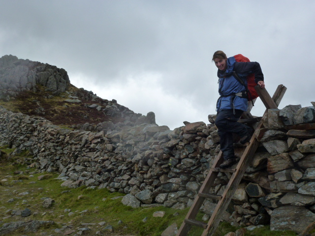 Angela and Tryfan's south face
