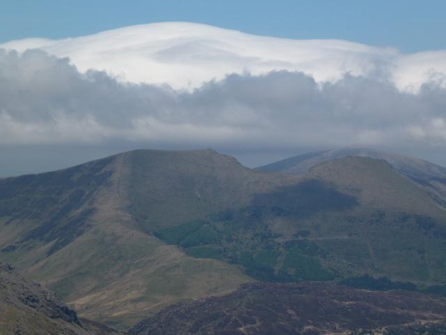 Huge pillow of cloud