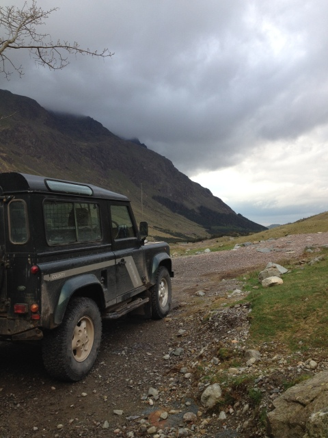 Old YHA Land Rover at Black Sail