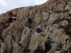 Practising on steep ground