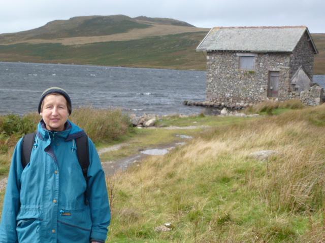 Carol at the boat house