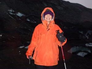 Orange works well on the glacier