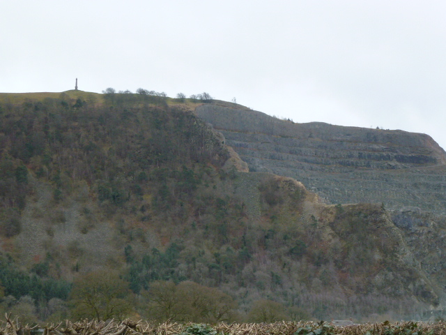Vast quarry at Criggion