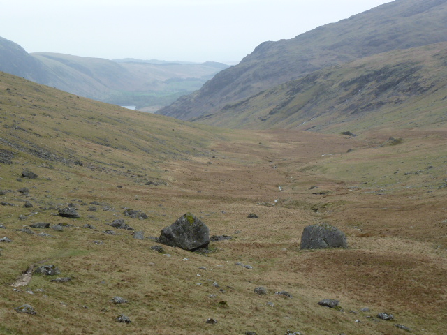 U shaped valley along Over Beck