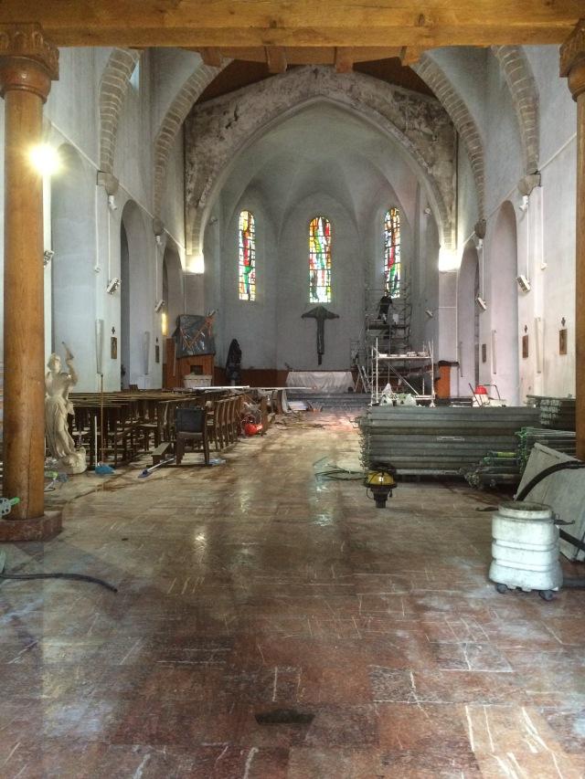 Inside St. Vincent's church