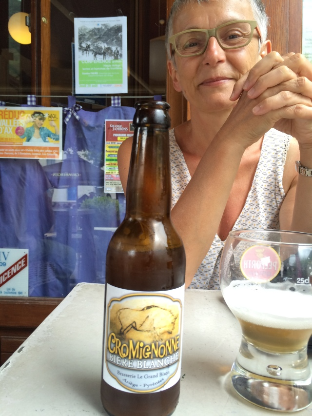 Marie-Odile and the local beer