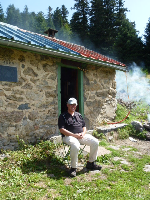 Fredy outside the bothy