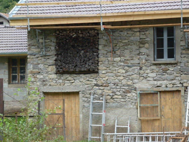 Wood store above