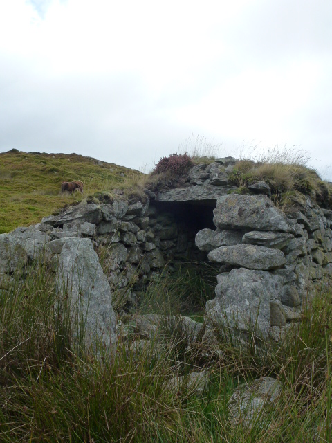 A peat house for storing peat