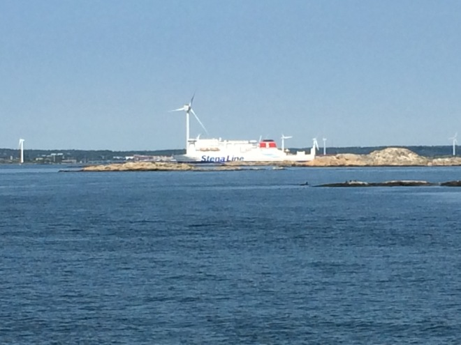The Stena boat kept popping out from behind little islands