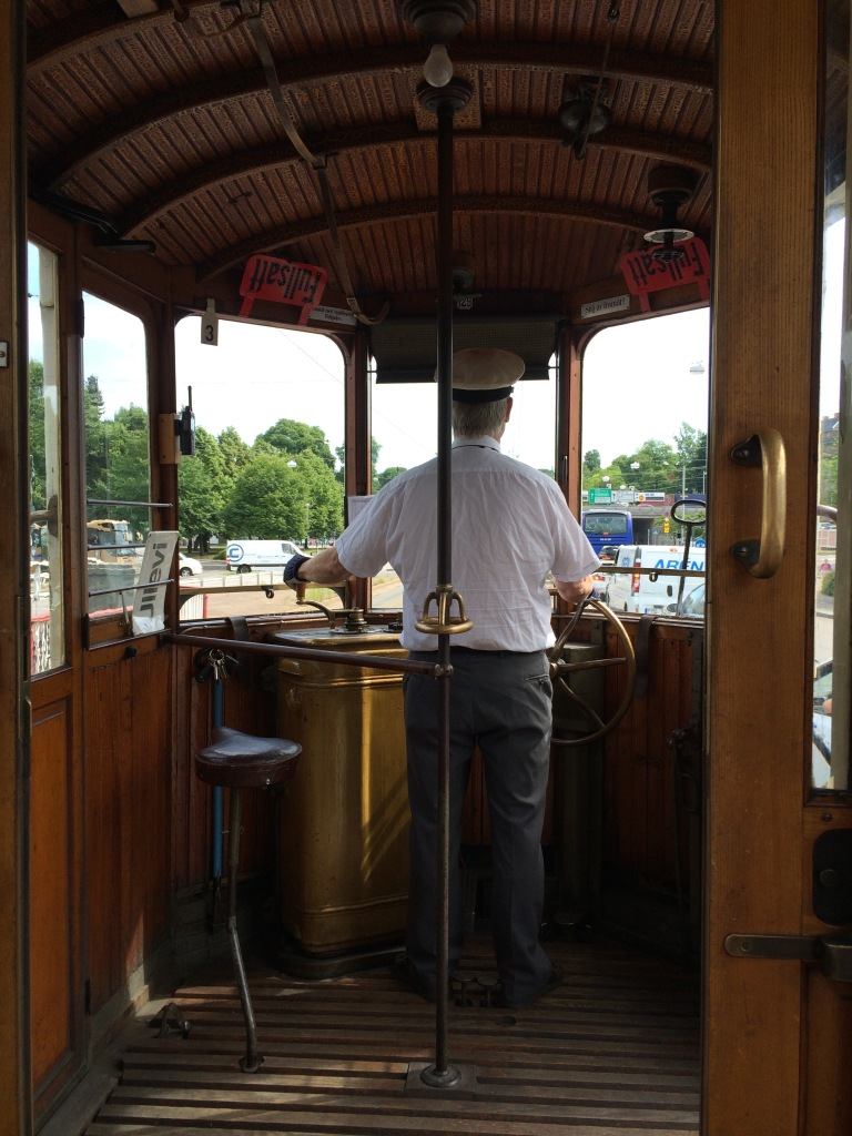On ye olde tram